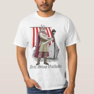 norsemenの戦士のTシャツライトが付いているバイキングの船 Tシャツ