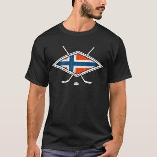 Norsk Ishockeyのアイスホッケーのロゴ Tシャツ
