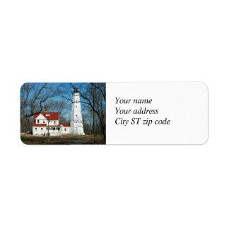 North Pointの灯台Milw WIの宛名ラベル ラベル