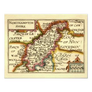 Northamptonshire郡地図、イギリス カード