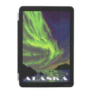 Northern Lightsおよびシャチのヴィンテージ旅行 iPad Miniカバー