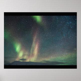 Northern LightsのカスタムはオーロラBorealisを個人化します ポスター