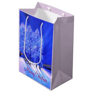 Northern Lightsのクリスマス ミディアムペーパーバッグ