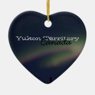Northern Lightsのループ; ユーコン準州領域の記念品 セラミックオーナメント