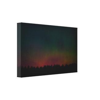 Northern Lightsの景色 キャンバスプリント