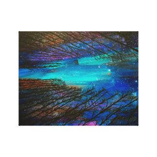 Northern Lightsの絵を描くこと キャンバスプリント