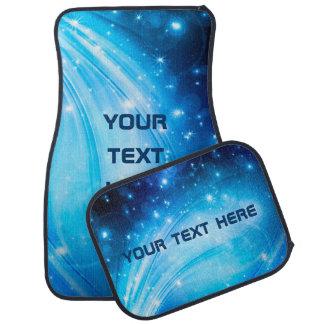 Northern Lightsは青を主演します + あなたの文字及びアイディア カーマット
