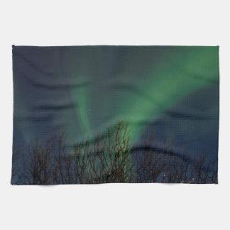 Northern Lights -オーロラBorealisアイスランド キッチンタオル