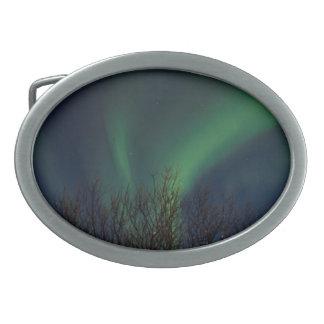 Northern Lights -オーロラBorealisアイスランド 卵形バックル