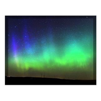 Northern Lights -黒いボーダー郵便はがき ポストカード