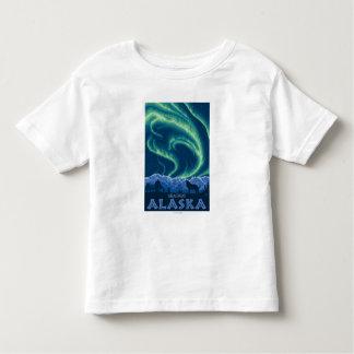 Northern Lights - Skagway、アラスカ トドラーTシャツ