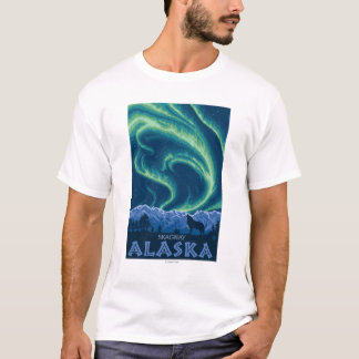 Northern Lights - Skagway、アラスカ Tシャツ