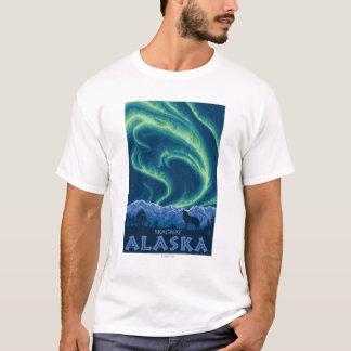Northern Lights - Skagway、アラスカ Tシャツ