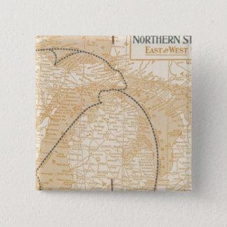 Northern Steamship Companyの地図 5.1cm 正方形バッジ