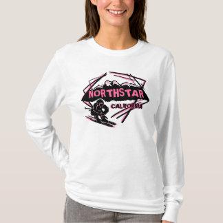 Northstarカリフォルニアのピンクレディーのスキーヤーのフード付きスウェットシャツ Tシャツ