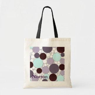 Nortonの紫色のプラスチック・バッグ トートバッグ