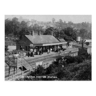 Nortonの駅のヴィンテージの郵便はがきを欠くこと ポストカード