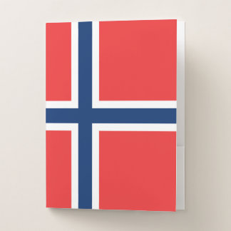 Norway Flag ポケットフォルダー