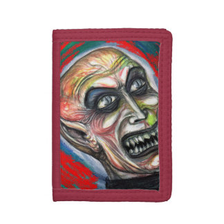 NOSFERATUの吸血鬼の財布 ナイロン三つ折りウォレット