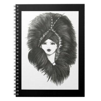 Notebook夕べの女性 ノートブック