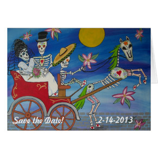 Notecardを結婚している死者の日は日付を救います カード