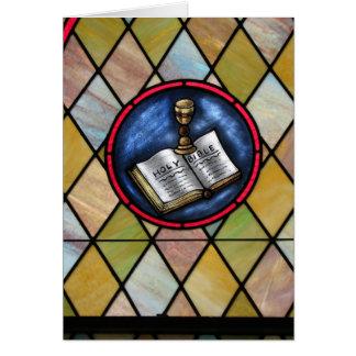 Notecard: メソジスト教会の窓、Longton カード