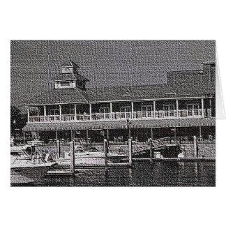 Notecard -水にボート カード