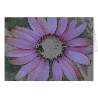 Notecard_空白のなConeflowerのデザイン カード