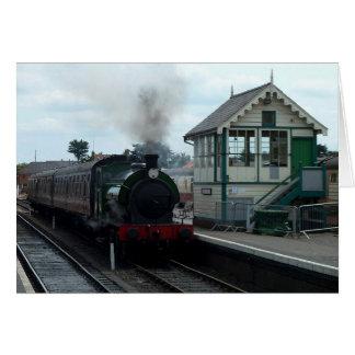 Notecard: 蒸気の列車および信号所 カード