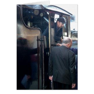 Notecard: 蒸気の列車を管理して カード