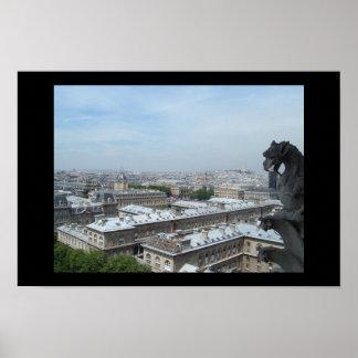 Notre Dameからのパリ ポスター