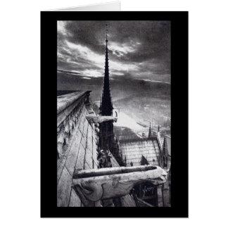 Notre Dameのカテドラルのパリフランスの1910年のヴィンテージ カード