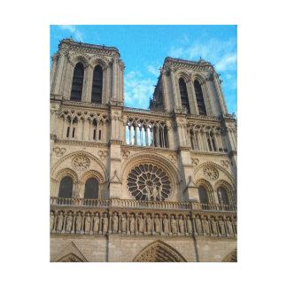 Notre Dameのカテドラル(パリ) キャンバスプリント