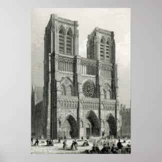 Notre Dameのカテドラル、パリ ポスター