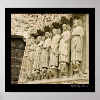 Notre Dameのカテドラル ポスター