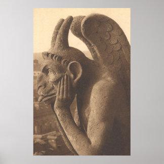Notre Dameのガーゴイルのキメラ ポスター