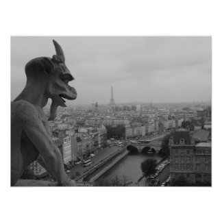 Notre Dameのガーゴイル ポスター