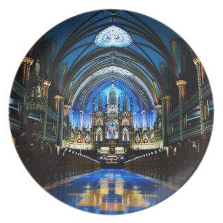 Notre Dameのバシリカ会堂のメラミンプレート ディナープレート