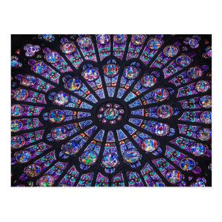 Notre Dameのバラ窓 ポストカード