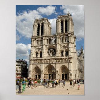 Notre Dameのプリントのテンプレート ポスター