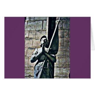 Notre Dameの彫像のCB カード