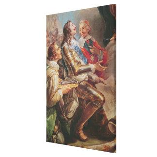 Notre Dameの教会を捧げるルイXIII キャンバスプリント