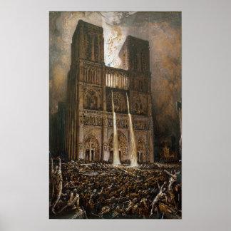 Notre Dameを包囲している住民 ポスター
