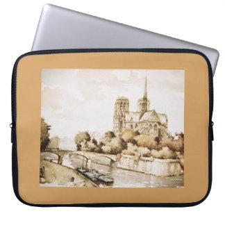 「Notre Dameカテドラル」のイメージのIPadカバー ラップトップスリーブ