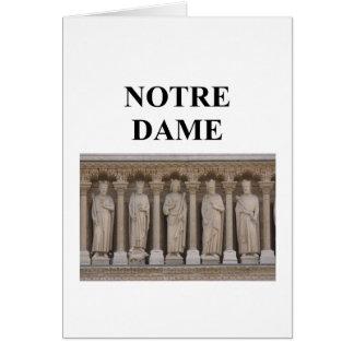 Notre Dameパリフランス カード