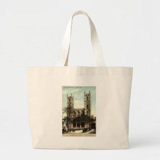 Notre Dame教会モントリオールのヴィンテージ1914年 ラージトートバッグ