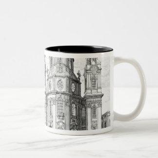 Notre Dame、ザルツブルク、「Entからのオーストリアの教会、 ツートーンマグカップ