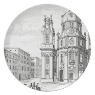 Notre Dame、ザルツブルク、「Entからのオーストリアの教会、 プレート