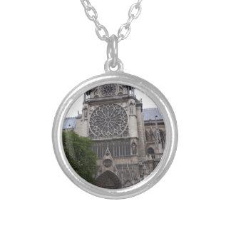 Notre Dame、パリ、フランス シルバープレートネックレス