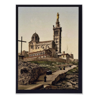 Notre Dame deのla Garde Iのマルセーユ、フランスのクラス ポスター